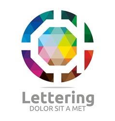 Lettering d rainbow alphabet design vector