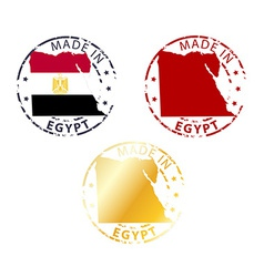 Made in egypt stamp vector