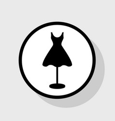 Mannequin with dress sign flat black icon vector
