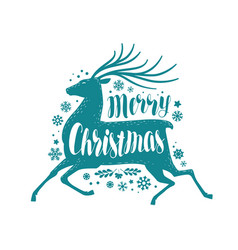 merry christmas greeting card or banner xmas vector image vector image