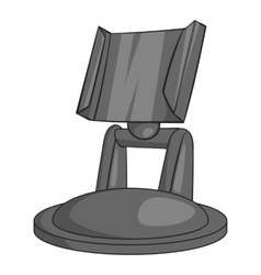 Mount for cam icon gray monochrome style vector