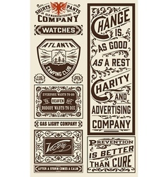 Old advertisement designs - vintage vector