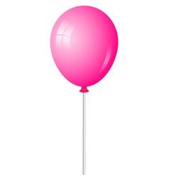 Pink baloon vector