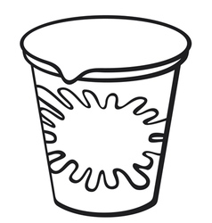 plastic container for yogurt vector image vector image