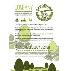 poster for nature landscaping company vector image