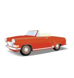 Retro red cabriolet vector