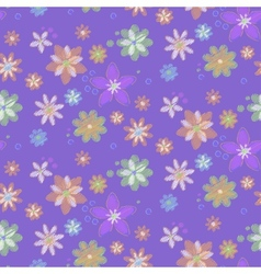 Seamless background with hand-drawn flowers vector