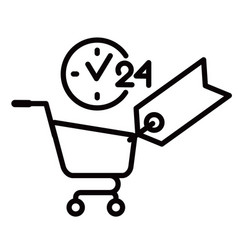 Shopping day and night icon vector