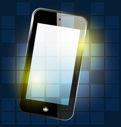 smartphone digital background vector image vector image