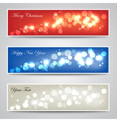 sparkling banner collection vector image vector image