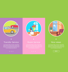 transfer and room service vector image