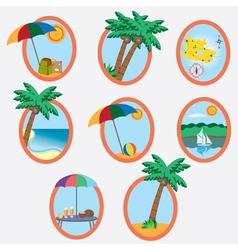 Vacation theme vector