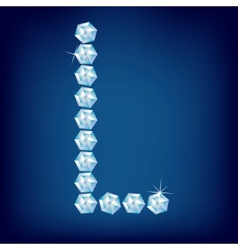 vector diamond alphabet letter l vector image