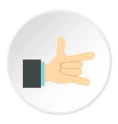 Gesture with index finger and little finger icon vector