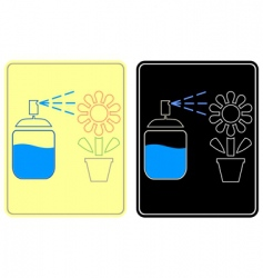 Watering flower sign vector