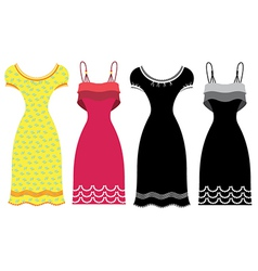 Woman summer dress vector