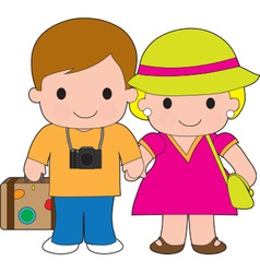 Couple Travel vector image