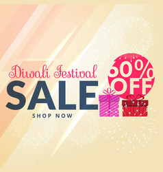 Shiny siwali sale with 60 off promotional template vector