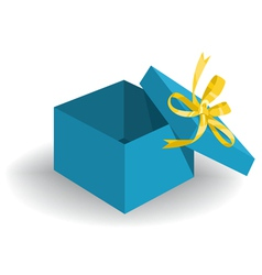 Opened holiday gift box vector