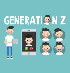 Generation z conceptual set sign full length vector