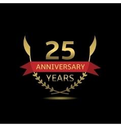 25 anniversary years vector