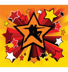 star dance vector image