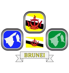 Symbols of brunei vector