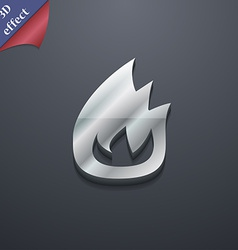 Fire flame icon symbol 3d style trendy modern vector