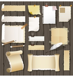 Various kind of vintage paper background vector