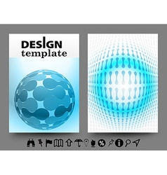 Brochure design templates with geometric vector