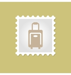 Traveling bag stamp vector