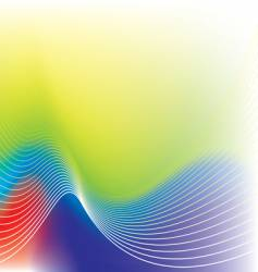 rainbow wave background vector image