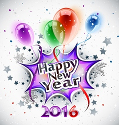 new year balloons 2016 vector image