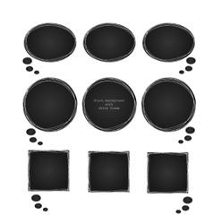 Black coal texture background invitation vector