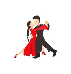 Tango dancers icon cartoon style vector image