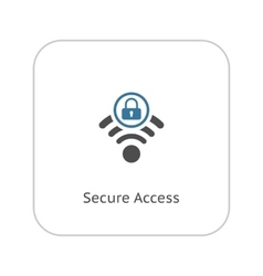 Secure access icon flat design vector