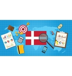 Denmark economy economic condition country with vector