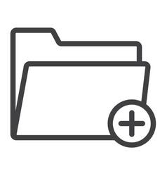 add folder line icon web and mobile add file vector image