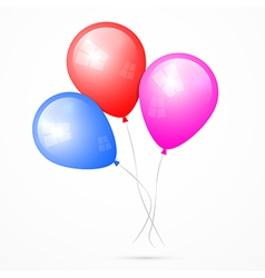Balloons Isolated on White Background vector image