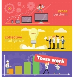 Business concept of teamwork vector image