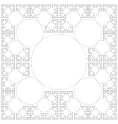 circle sacral geometry fractal background vector image