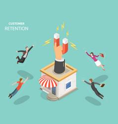 Customer retention flat isometric concept vector