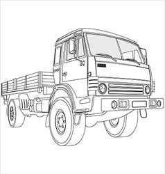 Flatbed truck vector
