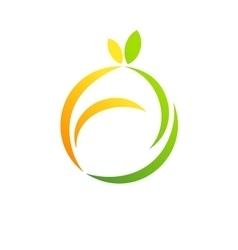 Fruit logo apple lemon health diet concept symbol vector