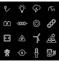 line electricity icon set vector image
