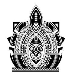 maori style tattoo sleeve vector image