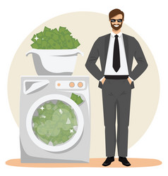 Money laundering concept vector