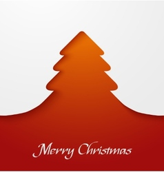 Orange abstract christmas tree applique vector image vector image