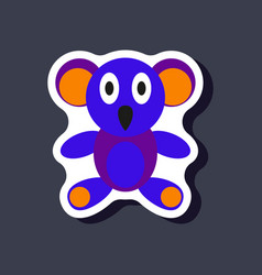 Paper sticker on stylish background koala toy vector