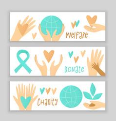 Philanthropy design donation concept vector